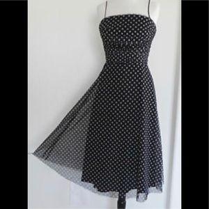 Jessica Howard Black PolkaDot Black Cocktail Dress